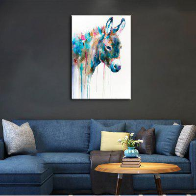 Buy COLORMIX YHHP Hand Painted Animal Canvas Oil Painting Hair Donkey for $23.65 in GearBest store