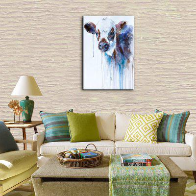 YHHP Hand Painted Canvas Animal Oil Painting Cow