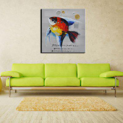 YHHP Hand Painted Animal Canvas Oil Painting Fish