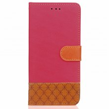 Hit Color Cowboy stripes Leaf Card Lanyard Pu Leather Cover for Lenovo S1 Lite