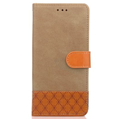 Hit Color Cowboy stripes Leaf Card Lanyard Pu Leather Cover for Samsung Note8