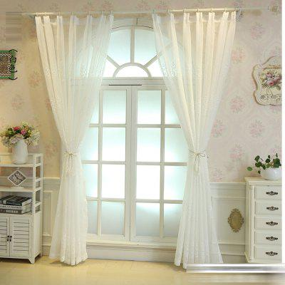 White embroidered window screen Large tree window screen