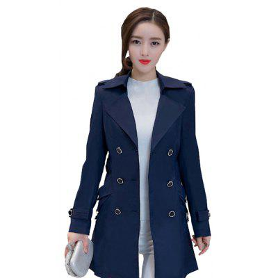 Trench coat da donna stile pendolarismo