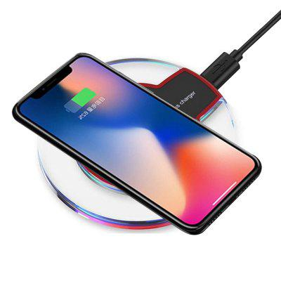 Gearbest Minismile Ultrathin Qi Standard Wireless Charger Pad with USB Cable for iPhone X / 8 / 8 Plus / Samsung