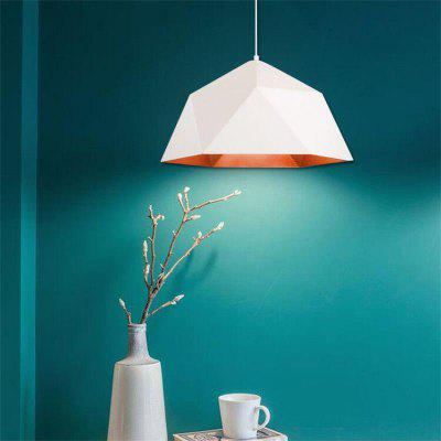 Modern Simple Style White Pendant lamp Rhombus Shape for Office Room  Living Dining Room Bedrooms