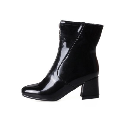 Women Shoes Patent Leather Zip Chunky Heel  Square Toe Fashion BootsWomens Boots<br>Women Shoes Patent Leather Zip Chunky Heel  Square Toe Fashion Boots<br><br>Boot Height: Mid-Calf<br>Boot Tube Circumference: 26<br>Boot Tube Height: 15<br>Boot Type: Fashion Boots<br>Closure Type: Zip<br>Gender: For Women<br>Heel Height: 6<br>Heel Height Range: Med(1.75-2.75)<br>Heel Type: Chunky Heel<br>Insole Material: PU<br>Lining Material: PU<br>Outsole Material: Rubber<br>Package Contents: 1xShoes(pair)<br>Pattern Type: Solid<br>Platform Height: 1<br>Season: Winter<br>Shoe Width: Medium(B/M)<br>Toe Shape: Square Toe<br>Upper Material: PU<br>Weight: 1.4520kg
