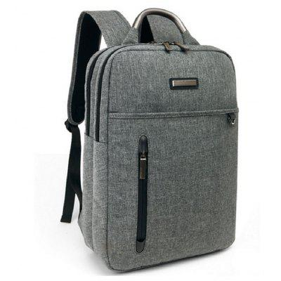 Waterproof Canvas Student Bag 15 Inch Laptop Backpack