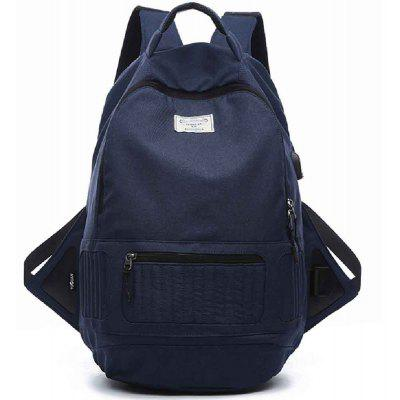 Large Canvas Student Backpack 15 Inch Laptop Bag