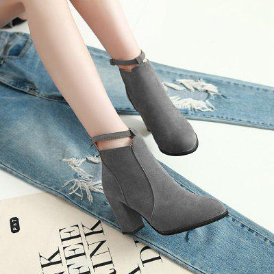 Women Autumn Winter Sexy Fashion Mini Martin Buckle Ankle Boots Waterproof Block Thick High Heel ShoesWomens Boots<br>Women Autumn Winter Sexy Fashion Mini Martin Buckle Ankle Boots Waterproof Block Thick High Heel Shoes<br><br>Boot Height: Ankle<br>Boot Type: Fashion Boots<br>Closure Type: Buckle Strap<br>Gender: For Women<br>Heel Type: Chunky Heel<br>Package Contents: 1 x Boots (Pair)<br>Pattern Type: Solid<br>Season: Spring/Fall, Winter<br>Toe Shape: Pointed Toe<br>Upper Material: Flock<br>Weight: 0.8000kg