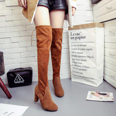Women Sexy Fashion Over Knee Long Boots Block Thick High Heel New ShoesWomens Boots<br>Women Sexy Fashion Over Knee Long Boots Block Thick High Heel New Shoes<br><br>Boot Height: Over-the-Knee<br>Boot Type: Fashion Boots<br>Closure Type: Slip-On<br>Gender: For Women<br>Heel Type: Chunky Heel<br>Package Contents: 1 x Boots (Pair)<br>Pattern Type: Solid<br>Season: Winter<br>Toe Shape: Round Toe<br>Upper Material: Flock<br>Weight: 1.0000kg