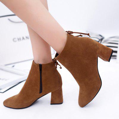 2017 Autumn and Winter New English Wind Tip Rough Heel Grind Skin Fashion Martin BootsWomens Boots<br>2017 Autumn and Winter New English Wind Tip Rough Heel Grind Skin Fashion Martin Boots<br><br>Boot Height: Ankle<br>Boot Type: Riding/Equestrian<br>Closure Type: Zip<br>Gender: For Women<br>Heel Type: Chunky Heel<br>Package Contents: 1 x Shoes?Pair?<br>Pattern Type: Solid<br>Season: Spring/Fall, Winter<br>Toe Shape: Pointed Toe<br>Upper Material: PU<br>Weight: 1.1200kg