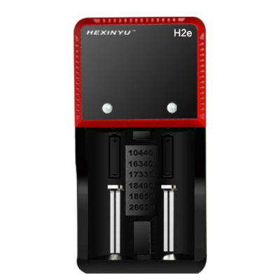 V - HXY -H2E - BS Switch Mode Battery Charger with Led Indicator Capable of Charging 2 Batteries Simultaneously UK Plug