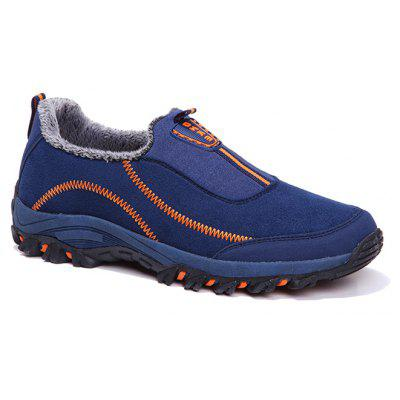 Women Warm Outdoor Casual Trend of Fashion Winter Rubber Solid Outdoor Walking Suede Low Boots
