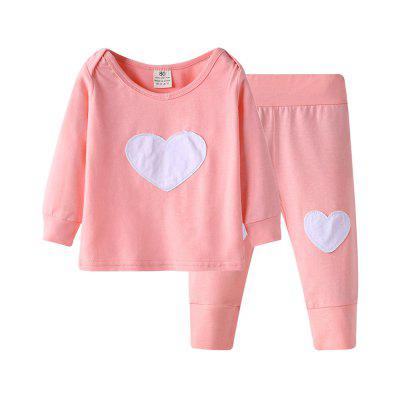 Cute 2PCS Kids Tops + Pants Outfits Spring Fall Clothes Set