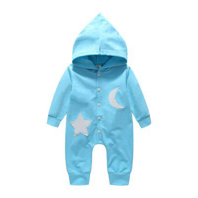 Fashion Infant Baby Girl Boy Hooded Long Sleeve Romper Jumpsuit
