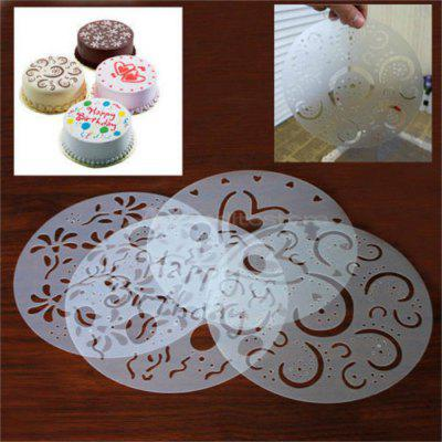 4PCS Baking Fondant Cake Stencil Template Mold Birthday Spiral Decoration Cake Biscuit Stencil Bakery Tool Fondant Mold