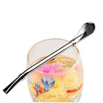 Green Tea Filter Yerba Mate Tea Drinking Spoon Straw Handmade Mate Bombilla Gourd Washable Practical Tea Tools Bar Acces