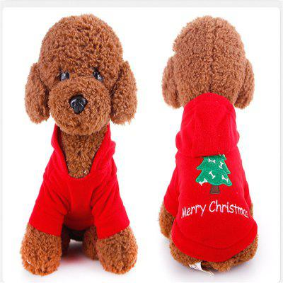 The dog dog puppy pet sweater out Christmas clothes