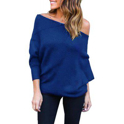 Sexy Off Shoulder Batwing Sleeve Sweater