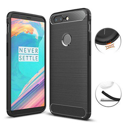 Ultra Slim Thin Carbon Fiber Scratch Resistant Shock Absorption Soft TPU Protector Cover for OnePlus 5T