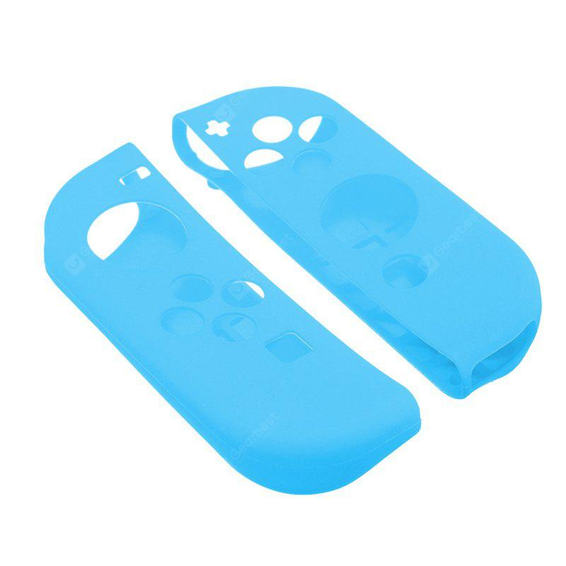 1 Pair Multi-Color Silicon Case Protective Impact Resistant Rubber Protect Skin Cover Nintend Switch Joy-Con Controll BLUE