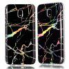 European Version Luxury Ultra Thin Soft TPU Marble Case for Samsung Galaxy J3 2017 - BLACK