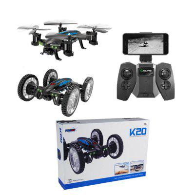 2017 neue Multifunktions 2 in 1 Flying Quadcopter Auto mit 0,3MP WiFi FPV Kamera 4 Kanal 2,4 Ghz Air-land Fliegen Fahrzeuge