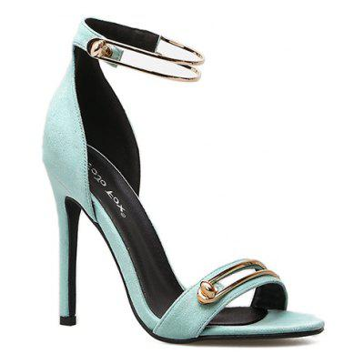 Women'S Rubber Sole with A Strappy Band with A Textured Ankle Strap and High Heel Sandals