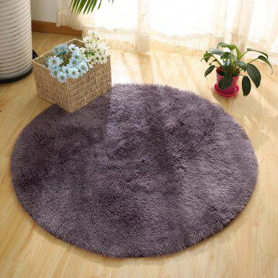 Buy GRAY 120X120CM Round Rug Simple Solid Design Multipurpose Floor Mat for $27.55 in GearBest store