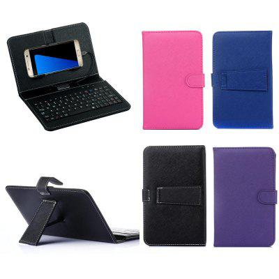 General Wired Keyboard Flip Holster Case For Android Mobile Phone 4.7  – 6