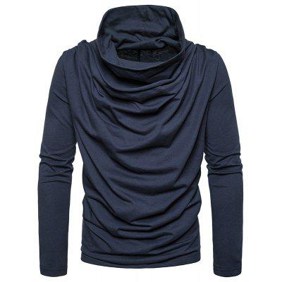Solid Color Irregular Pile Heap Collar Long Sleeve Casual Thin Pullover