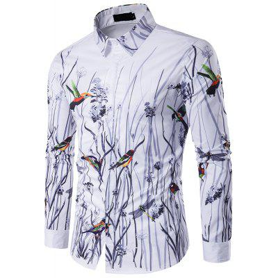 The New Spring Flowers 3D Men'S Personality Stamp Polo Shirt C243