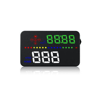 Buy A300 3.5 Inch Hud Display Car Speed Projector Car-styling HUD OBD2 Speedometer Driving Time Windshield Projector BLACK for $40.70 in GearBest store