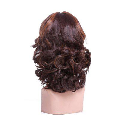 Synthetic Blonde Color Short Wigs For Black Women Wavy With Bangs Hairstyle Heat Resistant Fake Hair
