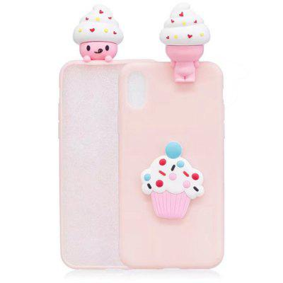 3D Cartoon Animals CuteIce crema morbida custodia in silicone per iPhone X