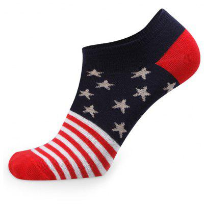 Buy COLORMIX Stars Stripe Graphic Elastic Knit Socks N1665- 5 Pairs for $19.39 in GearBest store