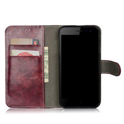 Buy WINE RED Case for Oneplus 5T Cover One Plus 5 T Leather Flip Wallet Stand Protective Phone Bags Business Vintage Card Slots for $5.16 in GearBest store