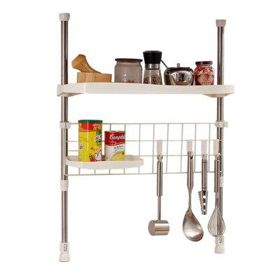 ORZ Kitchen Cabinet Under Rack Adjustable Spic Seasoning Shelf Cooking Utensil  Hanger Organizer Storage Rack ...