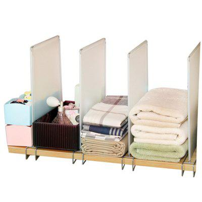 ORZ 4pcs Closet Divider Shelf Space Saving Shelves Wire Design PP Wardrobe Chest Partition Clothes Storage Rack Drawer