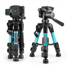 zakitane Mini Tripod Tabletop Desktop Tripod with Pan Head Panoramic Quick Release Plate Carrying Bag for DSLR Camera
