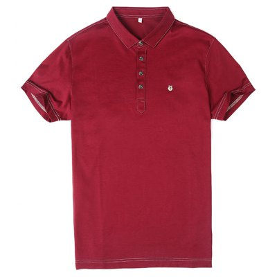 Red Casual Dress For Lapel T-Shirt