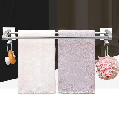 Space aluminum double pole towel rack