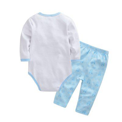 Wuawua  Baby Clothing   Cotton  Two-piece Triangle Romper Outfits ClothesBaby Gear<br>Wuawua  Baby Clothing   Cotton  Two-piece Triangle Romper Outfits Clothes<br><br>Closure Type: Pullover<br>Collar: Round Neck<br>Gender: Unisex<br>Material: Cotton<br>Package Contents: 1 x triangle romper,1 x pants<br>Season: Spring<br>Sleeve Length: Full<br>Thickness: Thin<br>Weight: 0.3000kg
