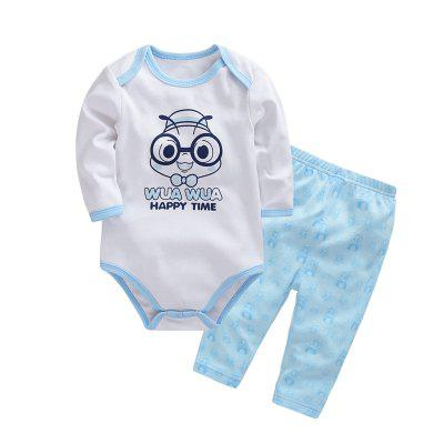 Wuawua  Baby Clothing   Cotton  Two-piece Triangle Romper Outfits Clothes