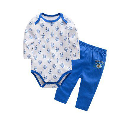 Wuawua  Baby Clothing  Boys Cotton  Two-piece Triangle Romper Outfits Clothes