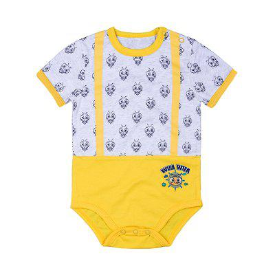 Wuawua  Cotton Print Bodysuit  Outfits Baby Jumpsuit