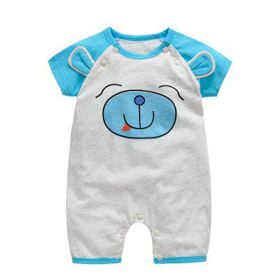 Wuawua Cotton Print Bodysuit Outfits Baby Jumpsuit 3d Ears