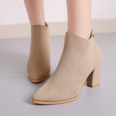 The Polished Face of The Face Is Simple and Heavy with WomenS Ankle BootsWomens Boots<br>The Polished Face of The Face Is Simple and Heavy with WomenS Ankle Boots<br><br>Boot Height: Ankle<br>Boot Type: Fashion Boots<br>Closure Type: Zip<br>Gender: For Women<br>Heel Height: 8.5cm<br>Heel Height Range: High(3-3.99)<br>Heel Type: Chunky Heel<br>Insole Material: PU<br>Lining Material: Cotton Fabric<br>Outsole Material: Rubber<br>Package Contents: 1xShoes(pair)<br>Pattern Type: Others<br>Season: Winter<br>Toe Shape: Pointed Toe<br>Upper Material: Flock<br>Weight: 1.5000kg