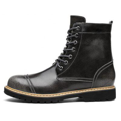 """Hot Newest Men Winter Luxury Genuine Leather Shoes High Quality Ankle Fashion Martin BootsMens Boots<br>Hot Newest Men Winter Luxury Genuine Leather Shoes High Quality Ankle Fashion Martin Boots<br><br>Boot Height: Ankle<br>Boot Type: Riding/Equestrian<br>Closure Type: Lace-Up<br>Embellishment: None<br>Gender: For Men<br>Heel Hight: Low(0.75""""-1.5"""")<br>Heel Type: Low Heel<br>Outsole Material: Rubber<br>Package Contents: 1 x Shoes(pair)<br>Pattern Type: Solid<br>Season: Summer, Winter, Spring/Fall<br>Toe Shape: Round Toe<br>Upper Material: Genuine Leather<br>Weight: 1.6400kg"""