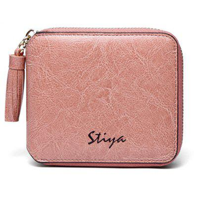 STIYA Women's Genuine Leather Coin Purse Mini Pouch Change Wallet with Tassel